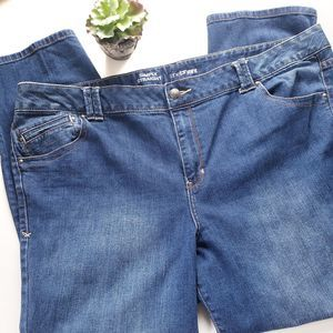 Lane Bryant Simply Straight Jeans 28 Petite